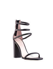 Siren - Karlie Black Leather Sandal