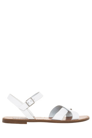 Steve Madden - Dubblin White Leather Sandal