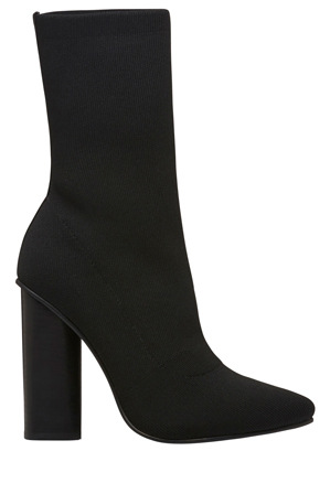 Windsor Smith - Yuki Black Knitted Stretch Boot
