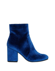 Miss Shop - Charlotte Navy Velvet Boot