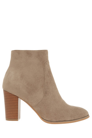 Miss Shop - Trudy Taupe Micro Boot
