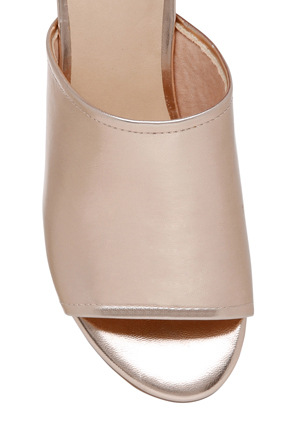 Miss Shop - Zoe Rose Gold Mule