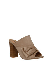 Miss Shop - Shannon Nude Micro Bow Mule