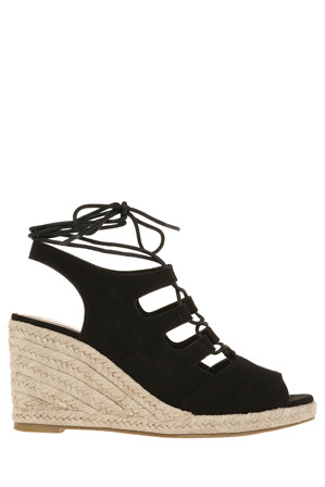 Miss Shop - Stacey Black Micro Sandal