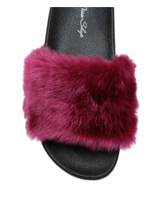 Miss Shop - Furr Burgundy Sandal