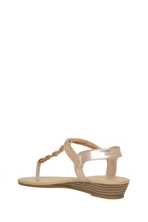 Miss Shop - Misty Rose Gold Sandal