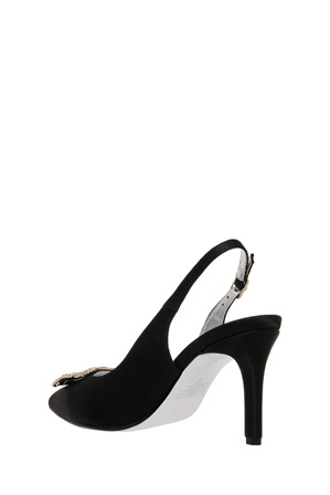 Collection - Isla Black Satin Pump