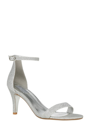 Collection - Steph Silver Glitter Sandal