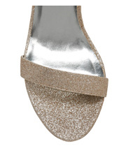 Collection - Steph Rose Gold Glitter Sandal