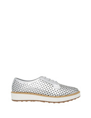 Piper - Fave Silver Leather Pump