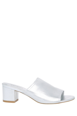 Piper - Gigi Silver Leather Sandal