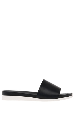 Piper - Isola Black Leather Sandal