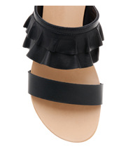 Piper - Ree Ree Black Leather Sandal