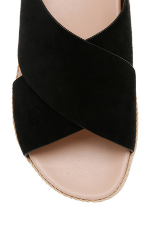 Piper - Kelly Black Suede Sandal