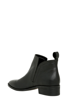 Piper - Luccia Black Leather Boot