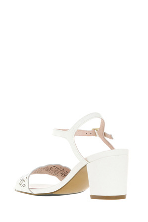 Basque - Romy White Sandal