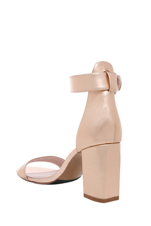 Basque - Salsa Rose Gold Leather Sandal