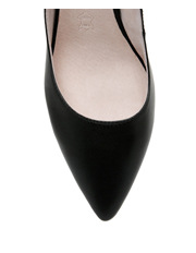 Basque - Nicolette Black Leather Pump