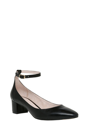 Basque - Andre Black Leather Pump