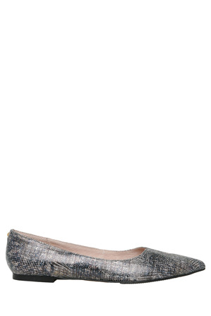 Basque - Louise Charcoal Leather Pump