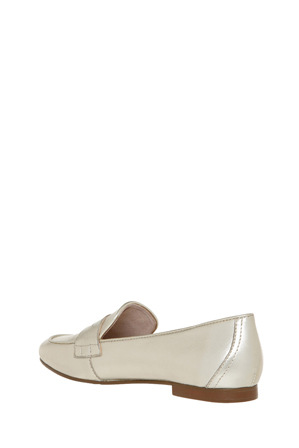 Basque - Tuxedo Soft Gold Leather Loafer