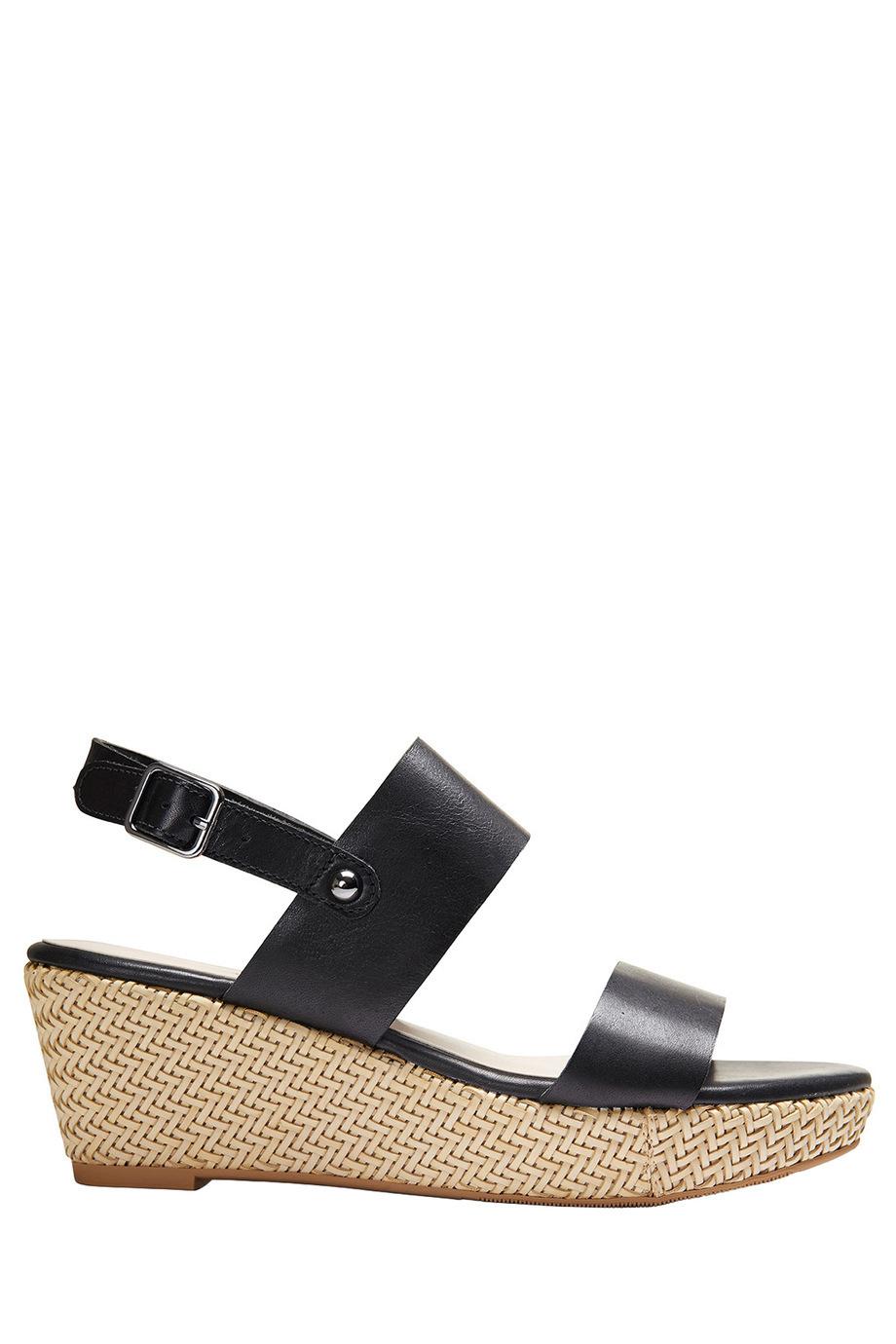 sandler leila black glove sandal myer