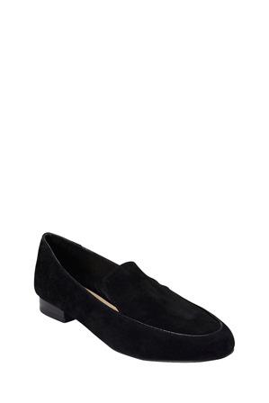 Jane Debster - Holly Black Suede Loafer