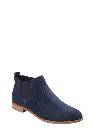 Easy Steps - Scope Navy Suede Ankle boot