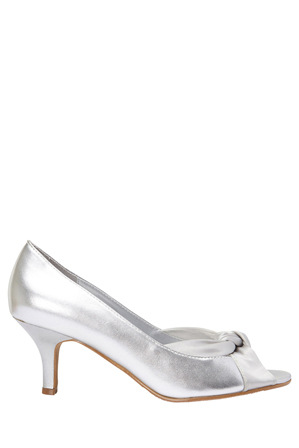 Easy Steps - Astrid Silver Metallic/Silk Pump