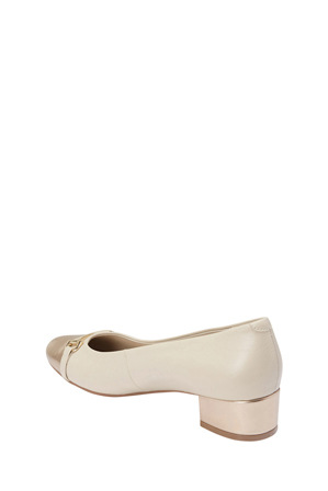 Easy Steps - Riley Gold/Ivory Glove Pump