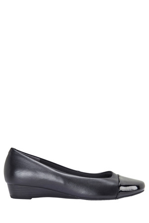 Easy Steps - Jean Black Patent/Glove Pump