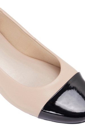 Easy Steps - Jean Black Patent/Nude Pump
