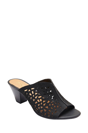 Easy Steps - Willow Black Nubuck Sandal