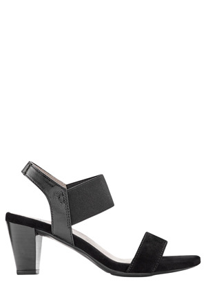 Ara - Rosso Black Suede and Patent Sandal