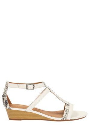 Clarks - Playful Fox White Combi Sandal