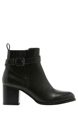 Hush Puppies - Adore Black Leather Boot