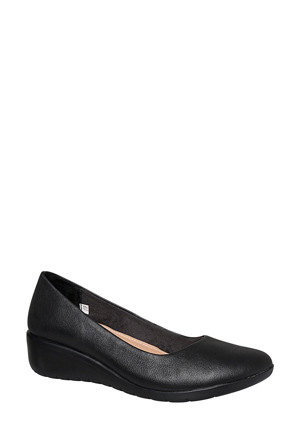 Hush Puppies - Dylan Black Leather Pump