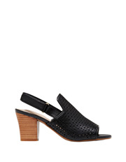 Hush Puppies - Oscar Black Leather Sandal