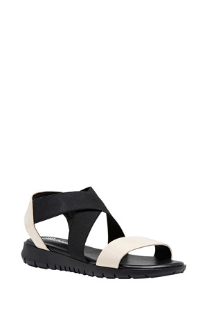 Hush Puppies - Panama Chalk Patent/Black Sandal