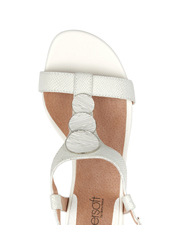 Supersoft by Diana Ferrari - Chilie White Lizard Sandal