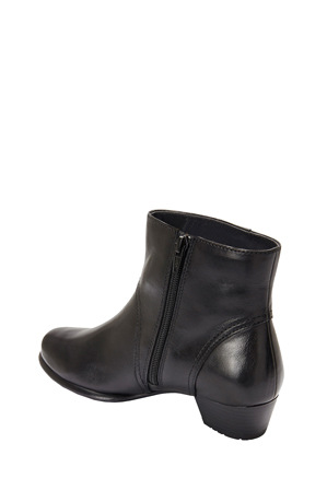 Wide Steps - Draper Black Glove Ankle Boot