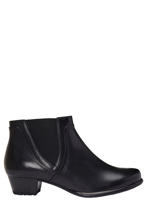 Wide Steps - Dion Black Glove Boot