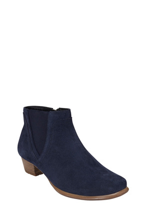 Wide Steps - Dion Navy Suede Boot