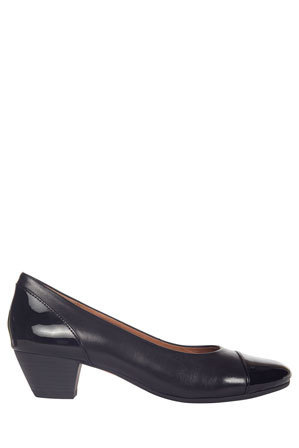 Wide Steps - Acton Black Patent/Kid Pump