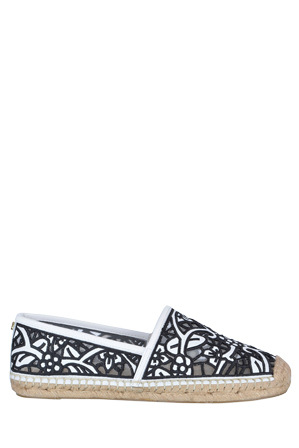 Zensu - Morgan Black/White Embroidery Pump