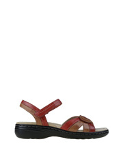 Planet Shoes - Ema Red Multi Sandal