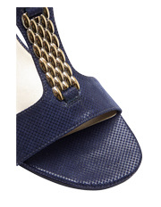 Wide Steps - Nolan Navy Fabric Sandal