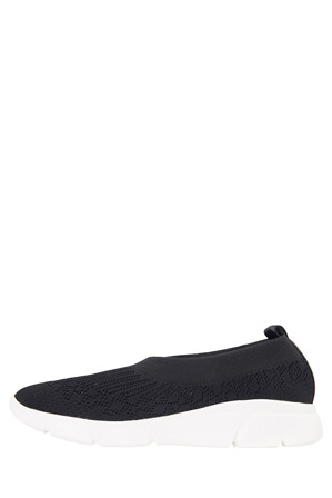 Wide Steps - Jamie Black Knit Sneaker