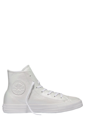 Converse - Chuck Taylor All Star Hi Iridescent Leather 557950 White/White Sneaker