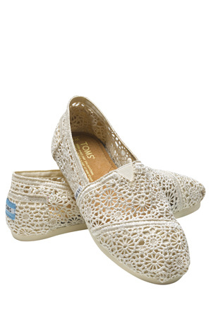 TOMS - Morocco Crochet Natural Sneaker
